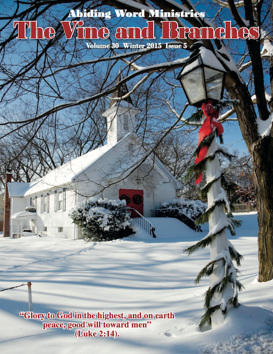 The Vine and Branches Winter Magazine Newsletter 2015 Cover